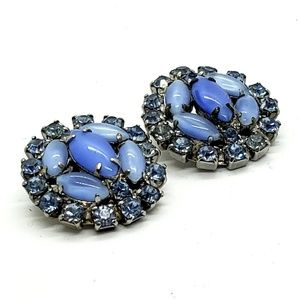 Something Old Something Blue Clip On Earrings